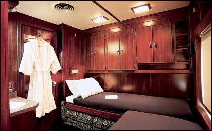 VINTAGE VOYAGE: A deluxe suite on the American Orient Express
