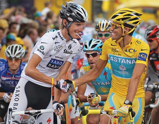 Andy Schleck and Alberto Contador: In on the joke?