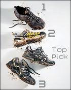 Asics Gel-Eagle Trail IV, Adidas Jasten, La Sportiva Rajas, New Balance 871