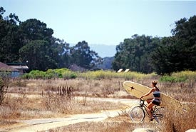 A UCSB student on a long break from the library