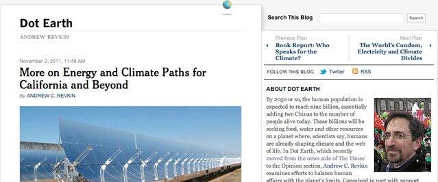 Dot Earth blog