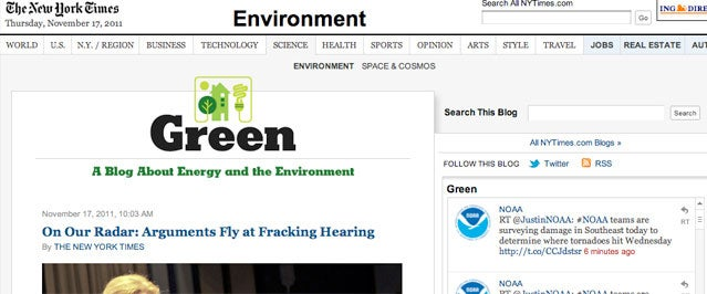 New York Times Green Blog