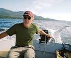 Fay piloting his Craigslist-bought aluminum skiff in Southeast Alaska