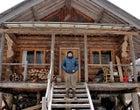Fay at his remote bush cabin