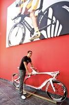 Alberto Contador at Specialized HQ