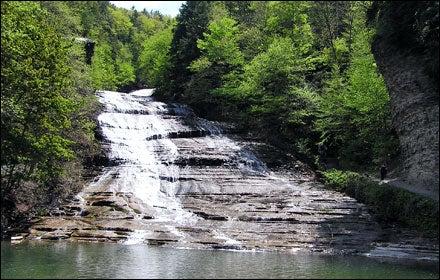 Buttermilk Falls State Park near Ithaca, New York