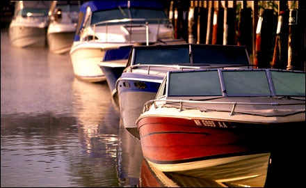 Boats in Portsmouth Harbor, New Hampshire