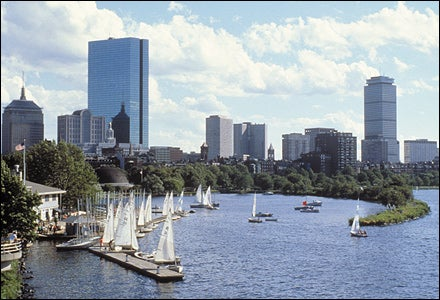 Boston Sailboats in Charles
