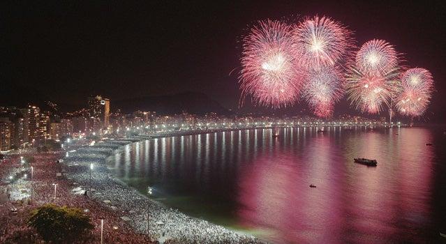 Get a fresh start to the New Year on Copacabana Beach