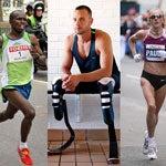 Sammy Wanjiru, Oscar Pistorius, Paula Radcliffe