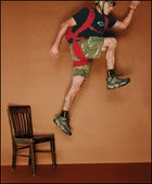 MIGHT AS WELL JUMP:  BASE specialist Miles Daisher  -Photo by Art Streiber