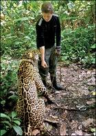 Thayer Walker with jaguar