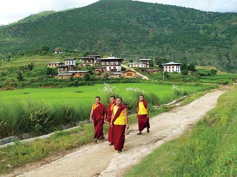 Buddhist monks on patrol