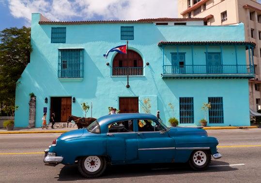 Driving through Havana