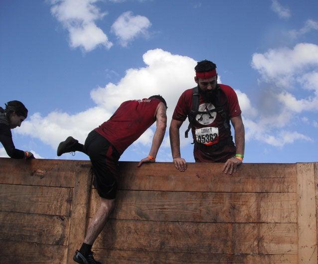 Tough mudder wall climb