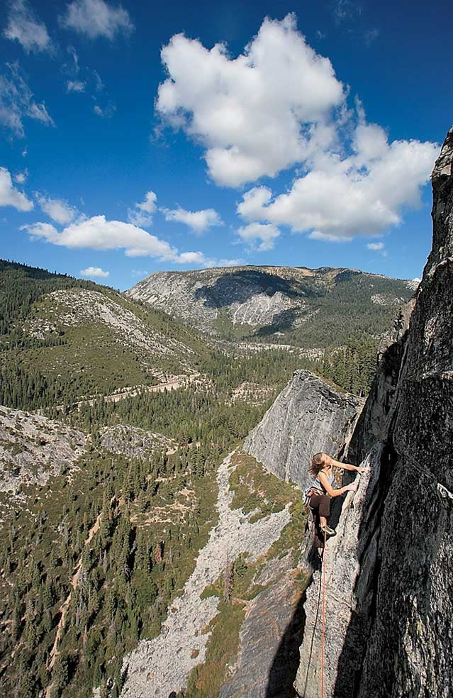 Scaling Lover's Leap in Strawberry, California