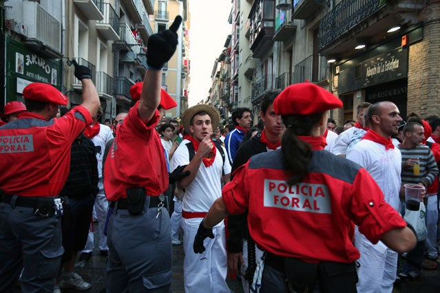 Pamplona police