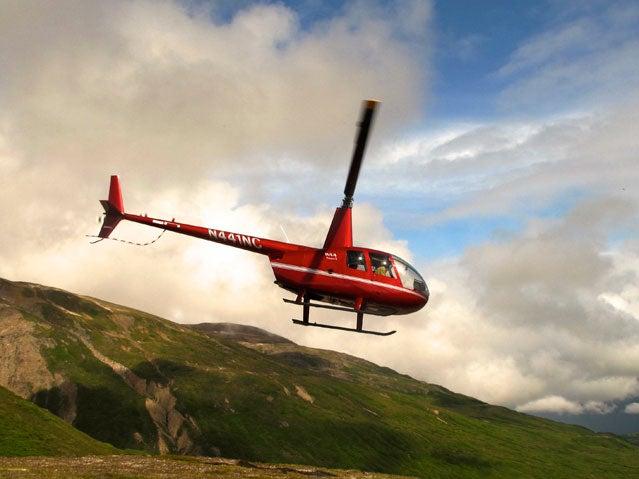 Winterlake Lodge helicopter