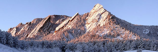 Boulder's iconic Flatirons