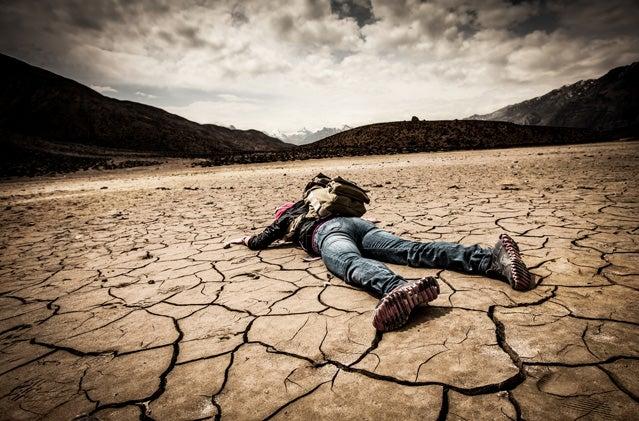 Dying the desert.