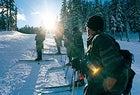 Killer Times: MWTC trainees attack the slopes on telemark skis at Kirkwood Mountain Resort, near Lake Tahoe, California