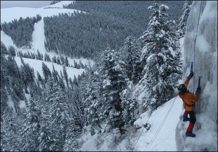 Central Gully Buttress at Teton Ice Park