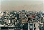 The Elburz Mountains rise over Tehran.