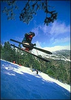 Able to leap tall bumps in a single bound: flying high over Stowe's finest
