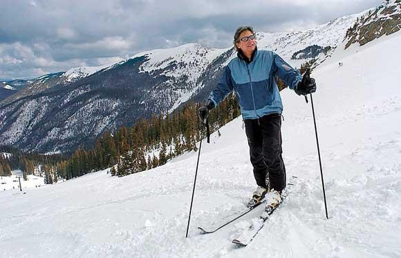 Skiing Taos