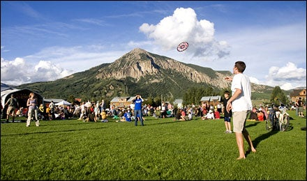 Frisbee Throwing in a Local Park, Crested Butte, Colorado