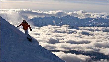 Snowboarding at Whistler Blackcomb, British Columbia