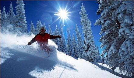 Skiing at Steamboat, Colorado