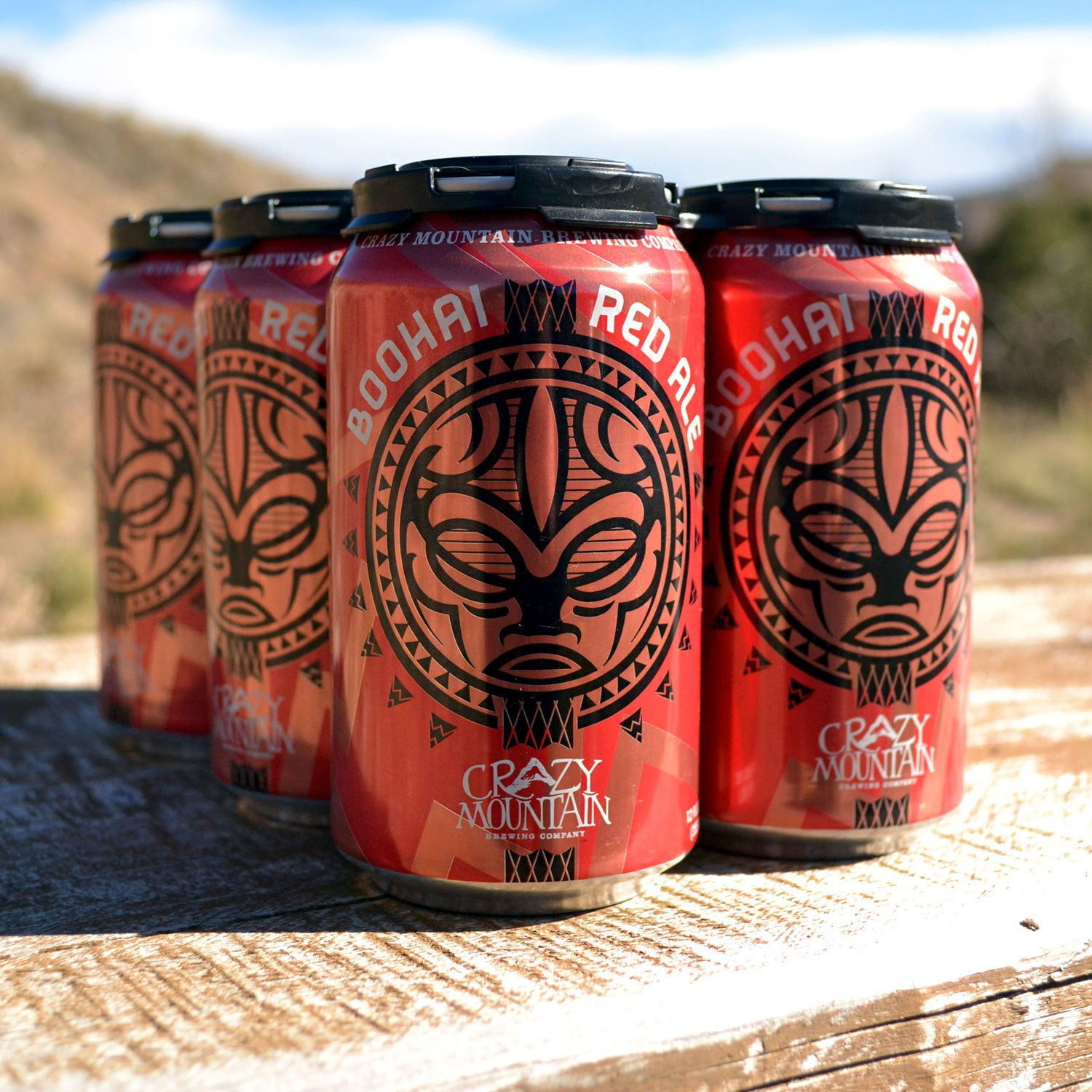 outside canned beer crazy mountain brewing boohai red ale rafting and fishing