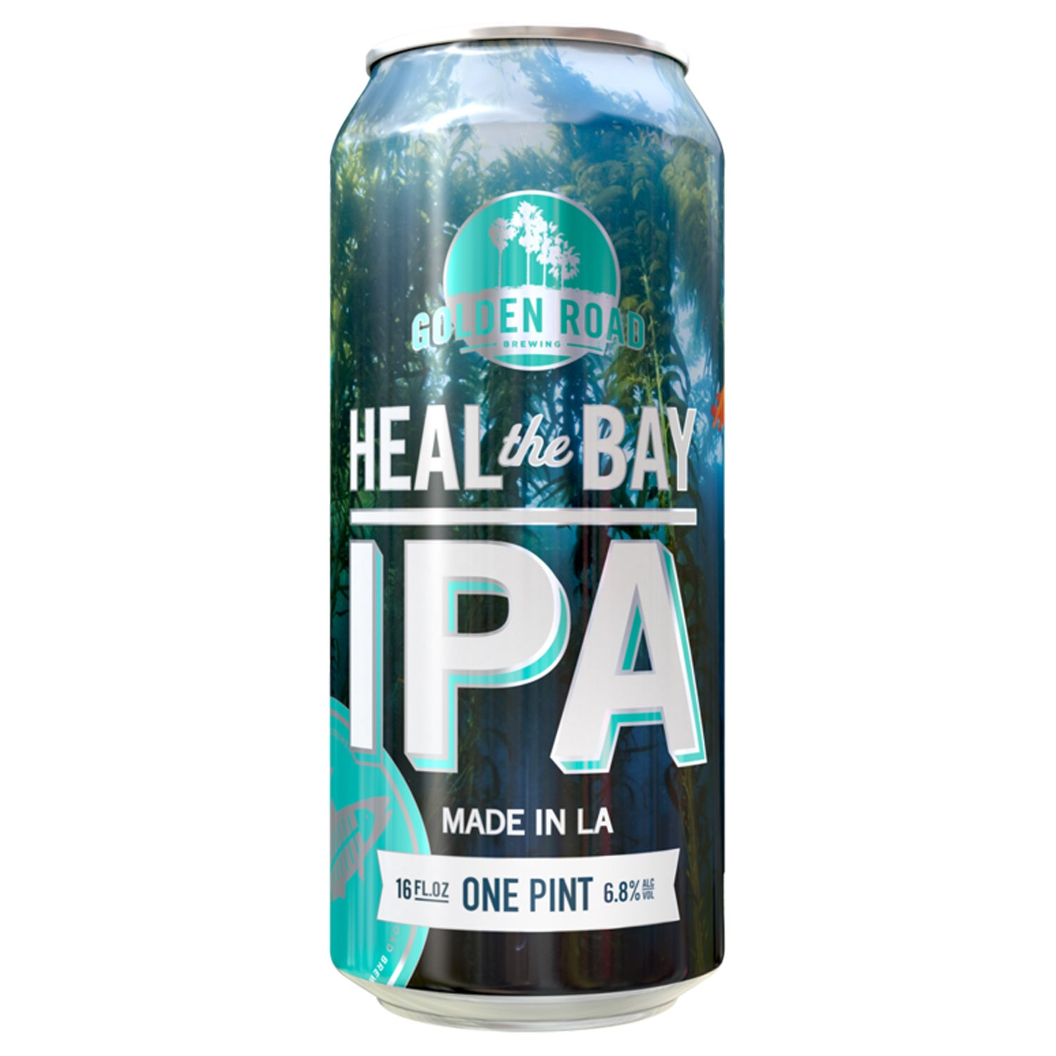 golden road brewing heal the bay ipa outside canned beer fall hiking or camping