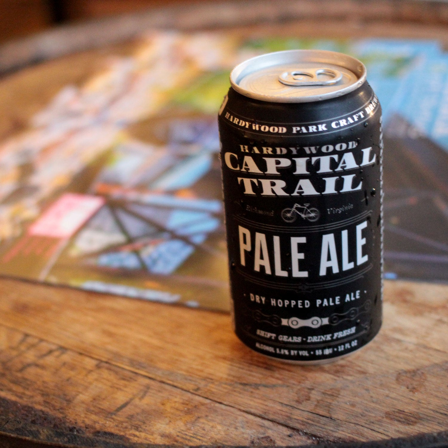 hardywood park craft brewing capital trail pale ale outside beer spring mountain biking