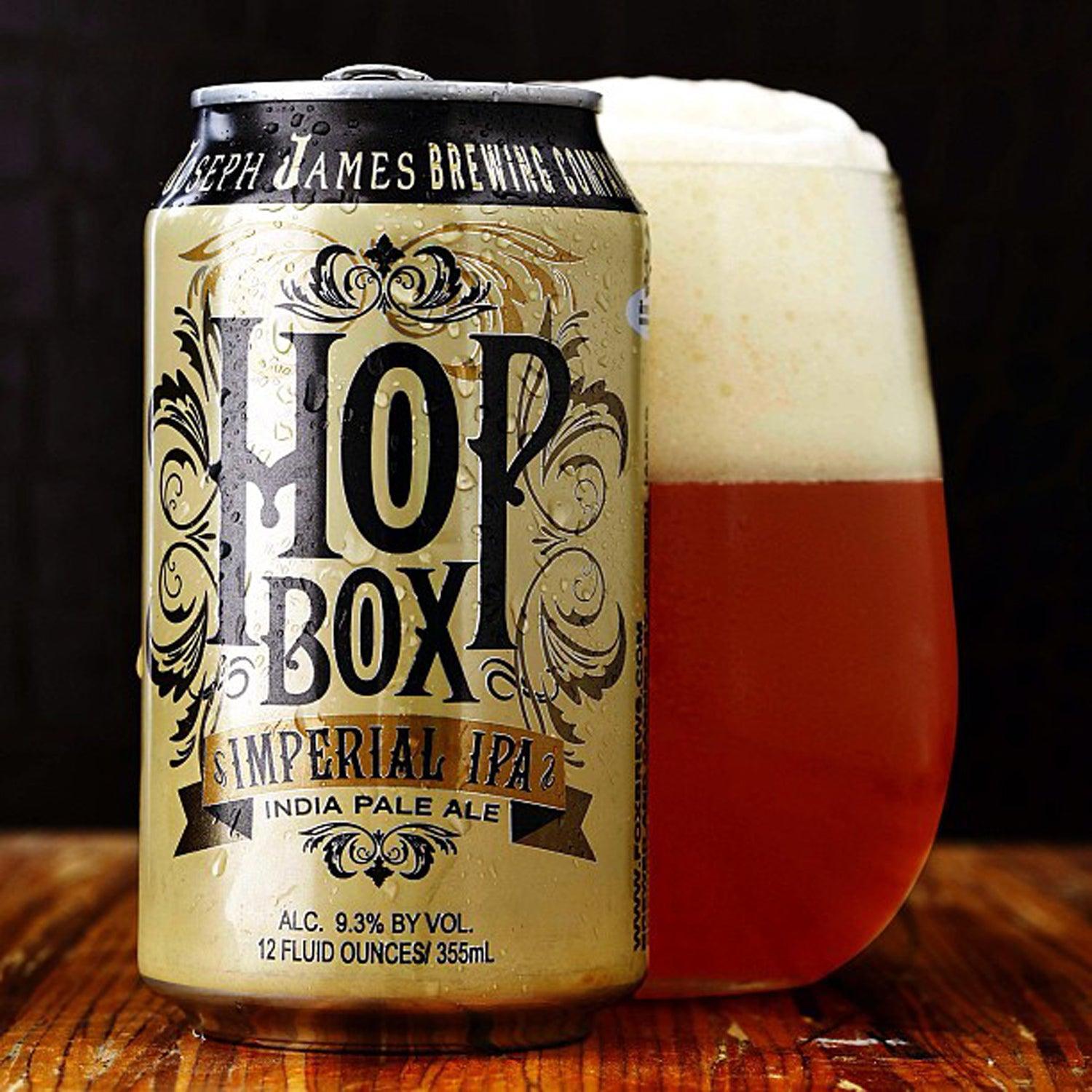 Joseph James Brewing hop box imperial ipa outside canned beer fall hiking or camping
