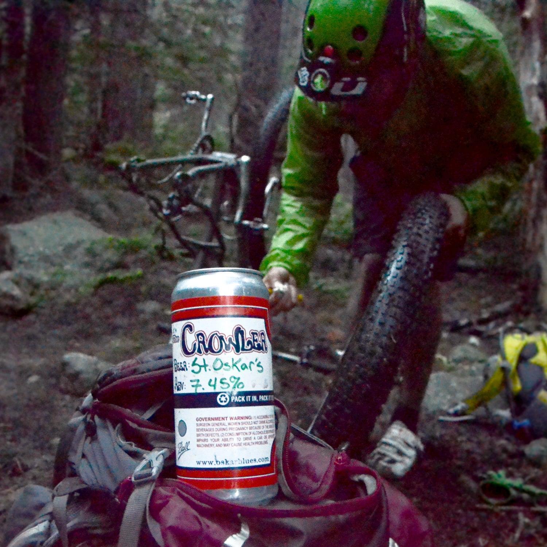Saint Oskar india black lager fall canned beer outside