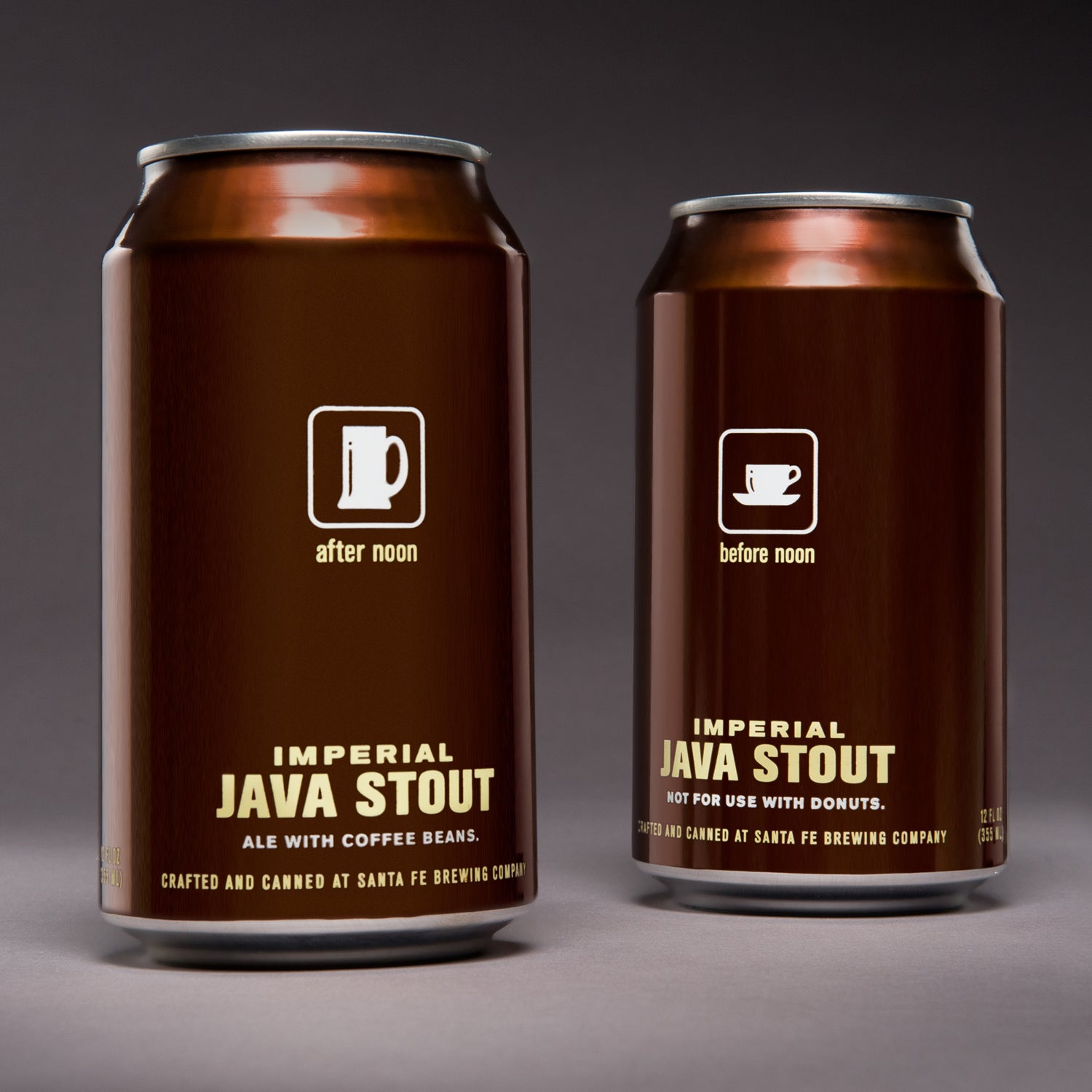 Santa Fe Brewing java stout outside skiing winter canned beer