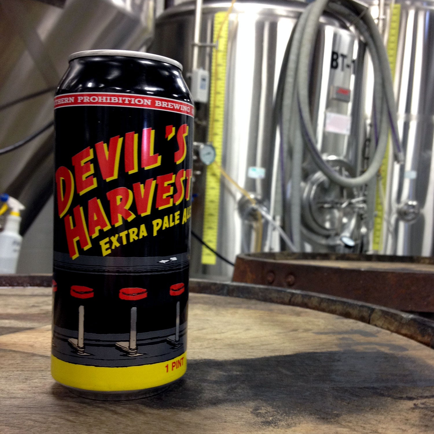 devils harvest extra pale ale southern prohibition brewing outside canned beer spring mountain biking