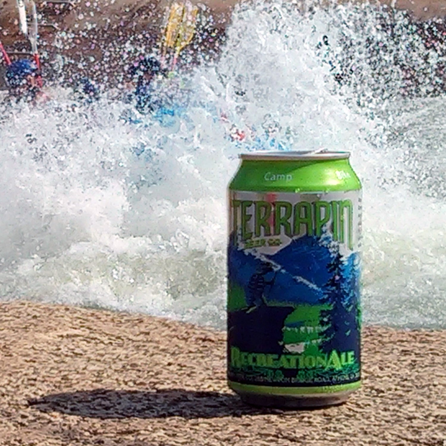 RecreationAle, terrapin beer company, canned beers, outside
