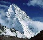 An uncommon view: the North Face of K2 seen from Xinjian Uygur, China