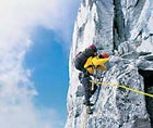 Rock Steady: Rob Frost takes the lead on South Howser Tower.