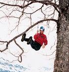 Gadd hanging out at the 2002 Ice Climbing World Cup, Interlaken, Switzerland