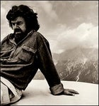 Lord of the Alps: Reinhold Messner in the Dolomites near Cortina, Italy, June 27, 2002.