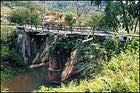 """Point of no return: dubbed """"Hell Gate"""" by American soldiers who built the Stilwell Road, the bridge over the Nampong River, near Pangsau Pass, marks the entrance into Burma's leech-infested jungle."""
