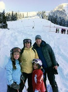 The Brenans at Stevens Pass in 2010: from left, Josie, Laurie, Nina, and Johnny.