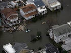 Flooded homes lined the Jersey Shore the day after Superstorm Sandy slammed the coast.