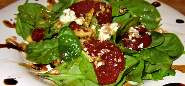 Spinach and Beet Salad.