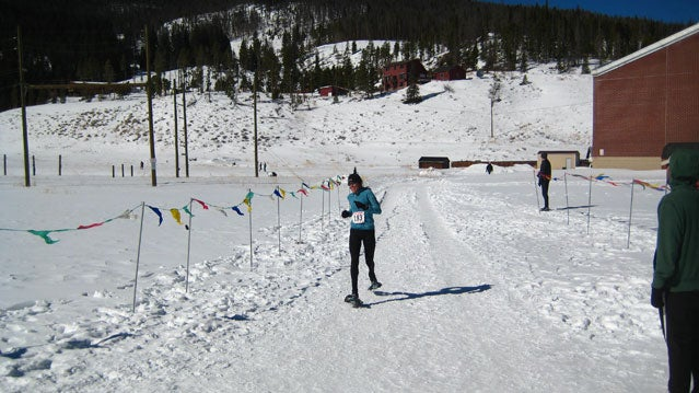 Former USSSA National Team member Laurie Lambert starts her second lap at the National Championships in Frisco, Colorado.
