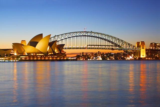 Sydney Harbour Bridge and the i